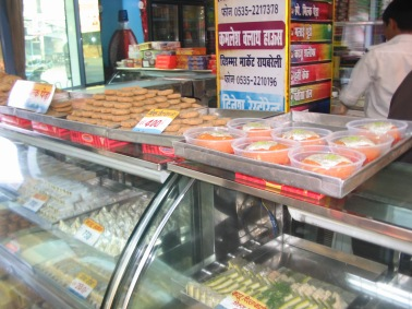 fresh sweets at Rae Bareli