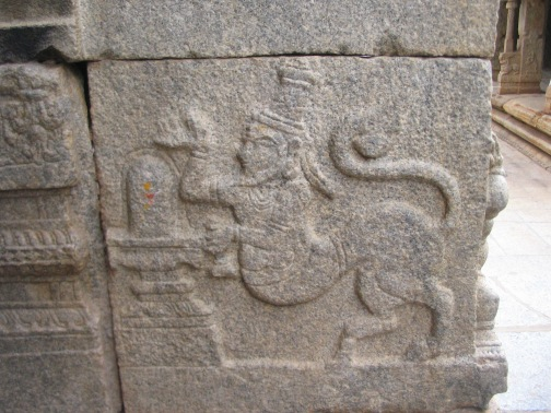 Lord Anjaneya worshipping Shivalinga