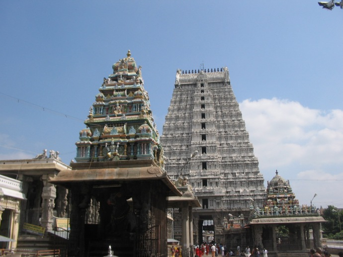 Nandi temple with East Gate in backdrop
