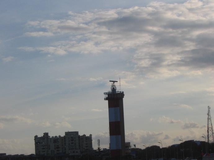 The lighthouse at Marina Beach